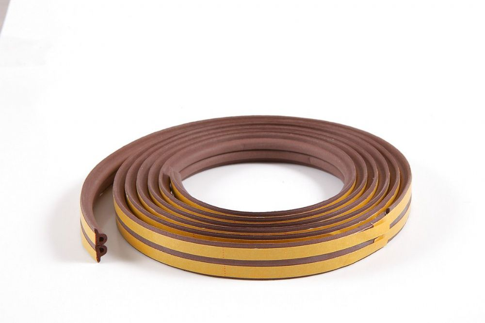 5m P-profile Brown Colour Draught Excluder